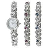 Juego De Regalo Peugeot Womens 670 Crystal Watch Y Tennis Br