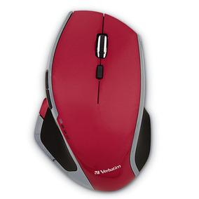 Mouse Inalambrico 8 Botones Rojo Led Verbatim 99021