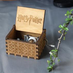 Caixinha De Música Harry Potter Nerd Em Madeira Artesanal