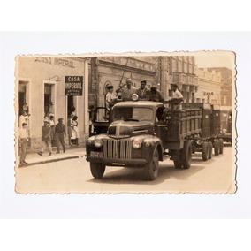 Fotografia Antiga Tipo Postal - Caminhao Chevrolet Anos 40