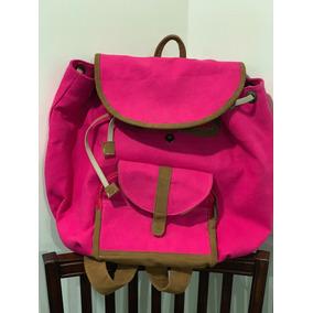Backpack Rosa Muy Amplio De Tela Envío Gratis