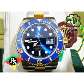 Relogio Novo Submariner Azul Misto Ouro Ceramic Acb Eta Lxrs