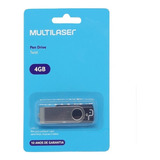 5 Pendrive Multilaser 4gb Pd586 Twist Usb Original Musica