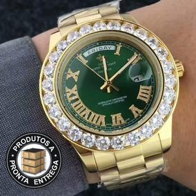 418860f89b9 Relogio Masculino Cravejado - Relógios De Pulso no Mercado Livre Brasil