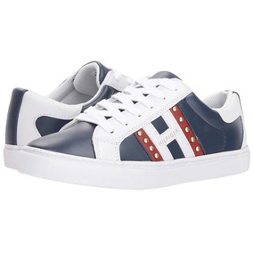 Tenis Tommy Hilfiger Mujer Casual Lazzen Logo Hilfiger Nuevo