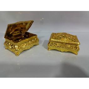30 Lembrancinha Dourado Porta Jóia Bau Realeza Luxo