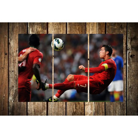 Cuadro Triptico Cristiano Ronaldo Cr7 Futbol A1 60x90cm b0c79451c119f