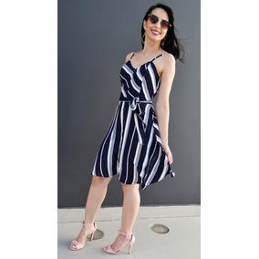 Vestido De Listra Blogueira Rodado Ultima Moda