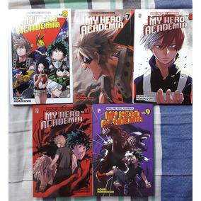 Coleção Mangá My Hero Academia - Vol 5,7,8,9,10 Incompleto