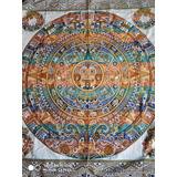 Mantel O Tapete Oaxaqueño,de 1.65 X 1.70 Bordado Sobre Manta