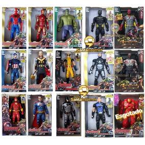 Kit 5 Bonecos Vingadores Marvel 30 Cm Luz E Som Frete Grátis