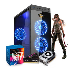 Pc Itx Gamer Powered By Asus I7 7700 Gtx 1050ti H110m 16gb