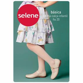 Meia Calça Infantil Feminina Basica Fio 20 Selene