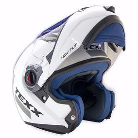 Capacete Articulado Texx New Flip Robocop Branco - Promoção