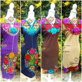 6 Vestidos/batas/artesanal Bordados De Zinacantan Chiapas