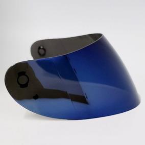 Viseira Polivisor Agv K3 K4 Azul Iridium Rs1