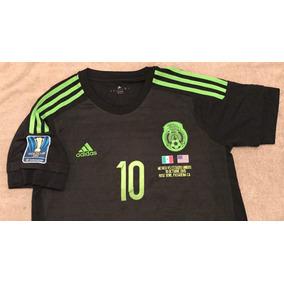 Jersey Mexico 2015 Negro Rotulado Y Parche Copa Oro 2015 590cbf0c92507