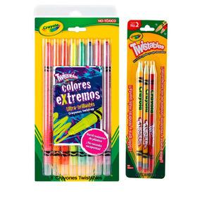 Kit Escolar Crayola 8 Col Twistables+ Lapiz Grafito Checador
