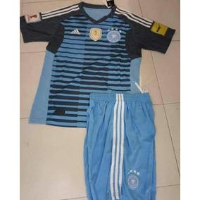 Uniformes De Futbol Economicos Completos Alemania Azul Verde a9c3a82525201