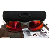 6dedb1b34e170 Oculos Juliet Xmetal Lente E Borrachas Vermelha Red + Case