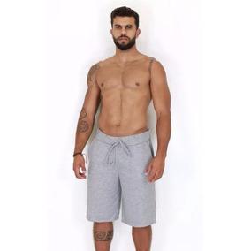 Bermuda Moletom Com Bolso Masculina Academia Shorts Atacado