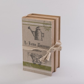 Libros De Madera Caja Le Jardin Botanique - Café Këssa Muebl
