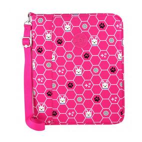 Fichário Kipling New Storer Rosa Pink Dog Tile