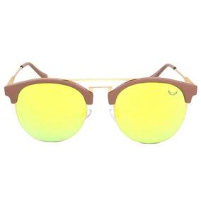 Óculos Siracusa Italiano Feminino Acetato Espelhado Amarelo 229a815f58