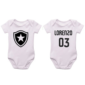 e71ba0bd1f552 Body Botafogo - Bodies Manga Curta Branco de Bebê no Mercado Livre ...