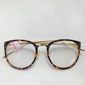 Óculos Feminino Armação P  Grau Redonda Quadrada Vintage Dio c848f0292b