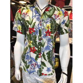 7d604e939f7db Camisa Floral Masculina - Camisa Masculino Verde no Mercado Livre Brasil