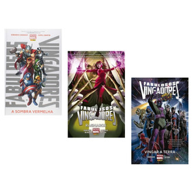 Kit 3 Hq Marvel Capa Dura - Fabulosos Vingadores
