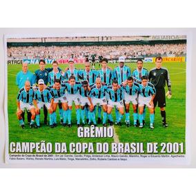 Poster Do Grêmio - Campeão Da Copa Do Brasil 2001