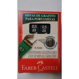 Kit 12 Cx Grafite 0.5mm 2b/hb Tubo C/12 Minas Faber Castell