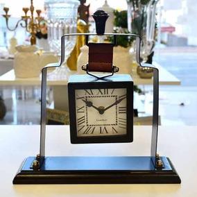 Relógio De Mesa Clássico Vintage Retrô 12x Sem Juros - 57139