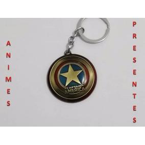 Chaveiro Capitão América - Dourado