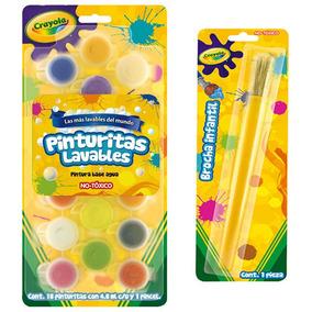 Kit Escolar Paquete 18 Pinturas + Bocha Infantil Crayola