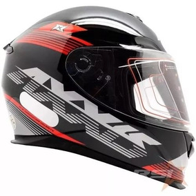 Capacete Axxis Eagle Logo Black/grey/red