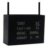 5 Unids Capacitor Partida 3,5uf X 450vac Fio Cbb61 40/85/21