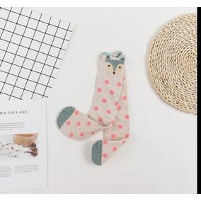 Calcetas Para Niña Animales Oso Panda Buho Lunares Rayas