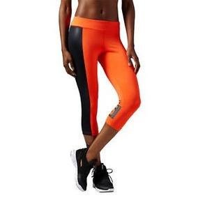 Leggins Malla Deportiva Reebok Capri 3/4 Gym Workout Ae5750