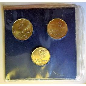 Argentina Blister C/ 3 Monedas Mundial 78 Acuñación 1977.