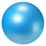 Bola Suica Azul 75cm Premium Yoga Pilates Fitness Live Up