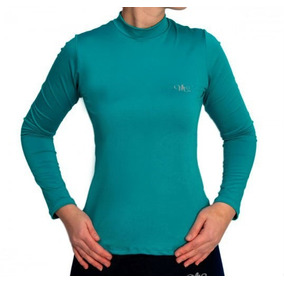 Camiseta Térmica Manga Longa Feminina Verde Jade Mprotect 195f4d05c5879