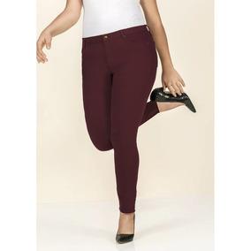 Pantalon Mujer Moda Skinny Vino Algodón Tela Fresca 1391657