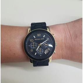 b1fe8917f5b5f Relogio Michael Kors Preto Fosco Modelo Mk5191 - Relógios De Pulso ...