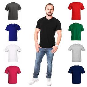 Kit Com 8 Camisa Casual Camiseta Masculina Lisa Revenda