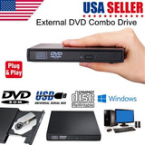Nuevo Externo Usb 2.0 Slim Rw Dvd Cd Rom Grabadora De Cd Ópt