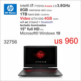 Nb Hp Gamer I7 4-core/8gb/1tb/4gb/15 Full Hd