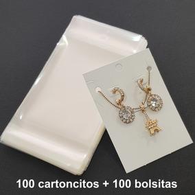 Cartoncitos Para Empacar Joyería In3x4+cel4c Aretes Cadena